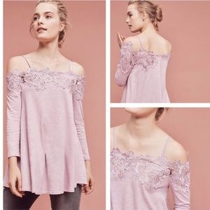 {Anthropologie} Laceline Off the Shoulder Top, NWT